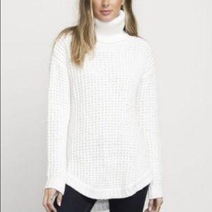 RVCA Chunky Knit Cream Turtleneck Sweater